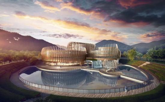 世界建筑奇迹:世茂深坑洲际酒店的反向天空发展的建筑理念