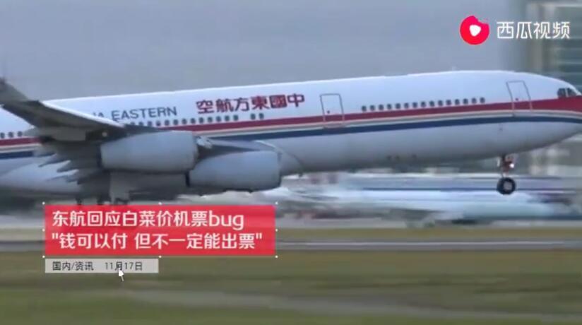 东航回应白菜价机票:系统漏洞订单有效可正常使用