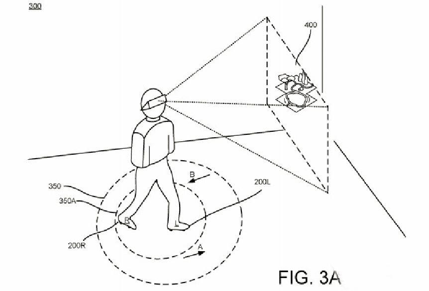 谷歌新专利:一款用于帮助用户在虚拟环境中移动的鞋子