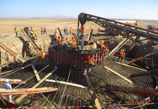 埃塞俄比亚阿伊萨二期风电项目首台风机基础浇筑顺利完成