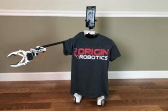 迈阿密公司开发出远程呈现机器人Origibot2:配备手臂和夹子