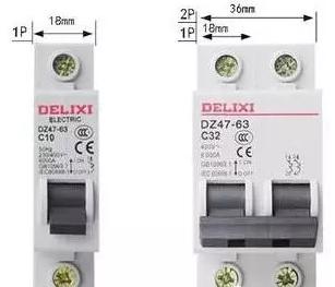 1P断路器和2P断路器有什么区别?