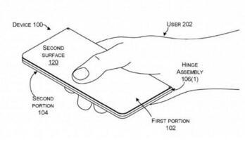 微软获得新专利:用于双屏移动设备上的铰链系统
