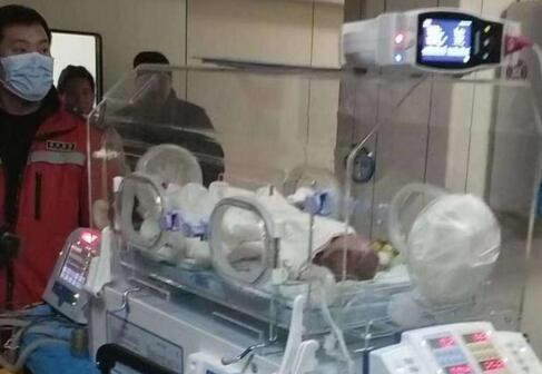 河南800克巴掌宝宝安全抵京,极早早产病情危急,已募得善款45万元