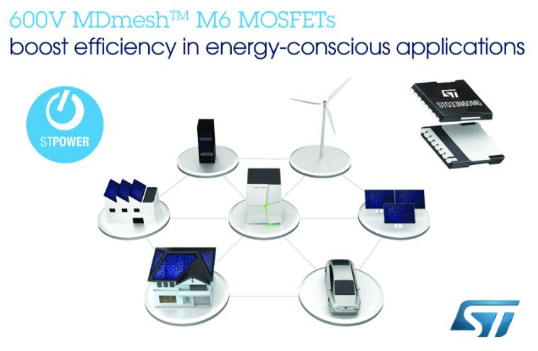 意法半导体推出MDmesh™系列600V超结晶体管