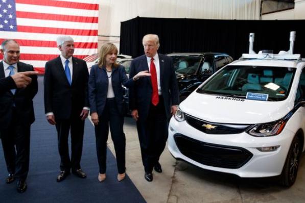 特朗普表示通用电动汽车转型计划将不会取得成功
