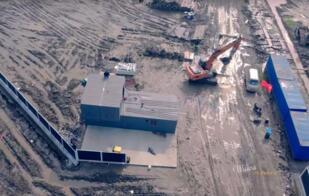 最新无人机航拍视频显示:特斯拉Gigafactory 3超级工厂开始动工