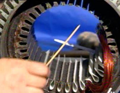 ?单相、三相电动机线圈维修图片