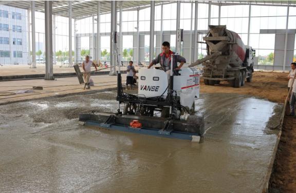 混凝土激光整平机性能优势及主要施工工艺流程