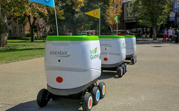 ?百事可乐在美国大学运营其第一辆自动驾驶零食小吃送餐机器人车