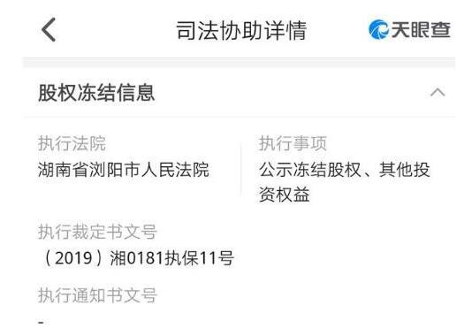 浏阳市人民法院冻结罗永浩在成都锤子科技集团的股权,涉及金额1亿元