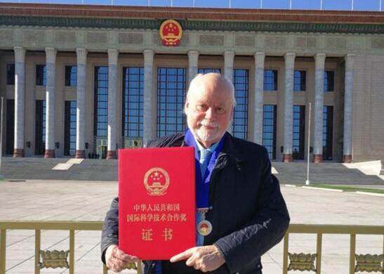 詹姆斯·弗雷泽·司徒塔特获2018年度中华人民共和国国际科学技术合作奖