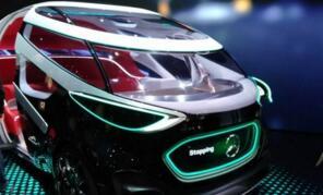 奔驰在CES上展出无人概念车Vision Urbaneti,拥有载人/运货两种形态