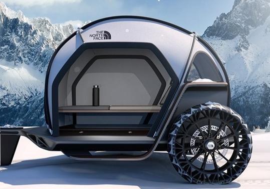 宝马与户外运动公司The North Face合作开发新型泪珠野营拖车