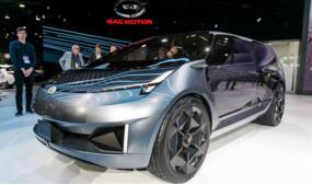 广汽传祺Entranze概念车在2019年北美车展上首次亮相