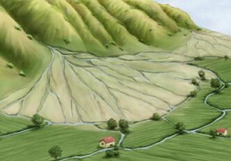冲积扇形成原因与过程,冲积扇对农业地意义与影响