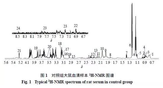 基于1H-NMR代谢组学复方柴归方干预CUMS抑郁模型