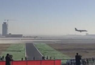 北京大兴新濠天地娱乐赌场机场迎来首架飞机,圆满完成首场校验任务