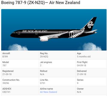 新西兰航空奥克兰飞上海NZ289航班未获落地许可掉头返航
