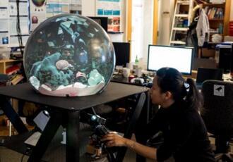 哥伦比亚大学研究小组制造出水晶球显示器,可为用户生成3D图像