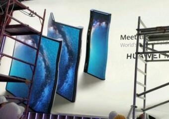 华为首款折叠屏手机Mate X宣传海报曝光:采用向外翻折设计