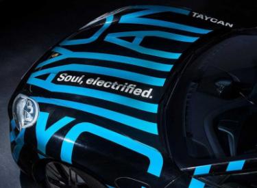 """保时捷发布电动汽车Taycan预告图,该车将提供""""可重复性能"""""""