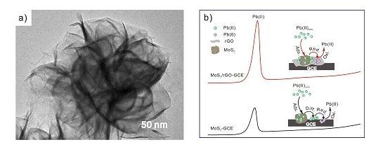 MoS2/RGO纳米复合材料实现水中微污染物Pb(II)的高灵敏、高选择性检测