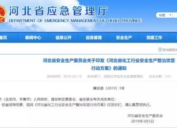 《河北省化工行业安全生产整治攻坚行动方案》全文