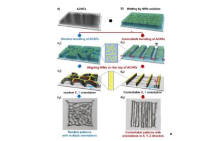 多维取向的图案化纳米线薄膜制备新方法