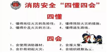 消防安全知识大全(四懂四会、顺口溜、常识十条)