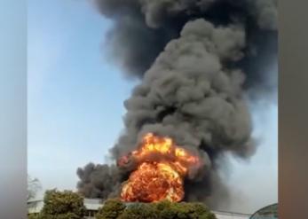 马鞍山明远化工厂突发着火,事故原因乃是化学材料着火