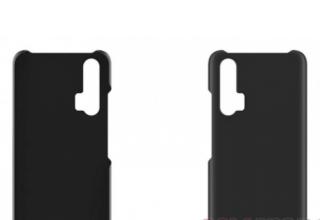 荣耀20系列旗舰保护壳曝光:后置三摄+屏幕指纹识别