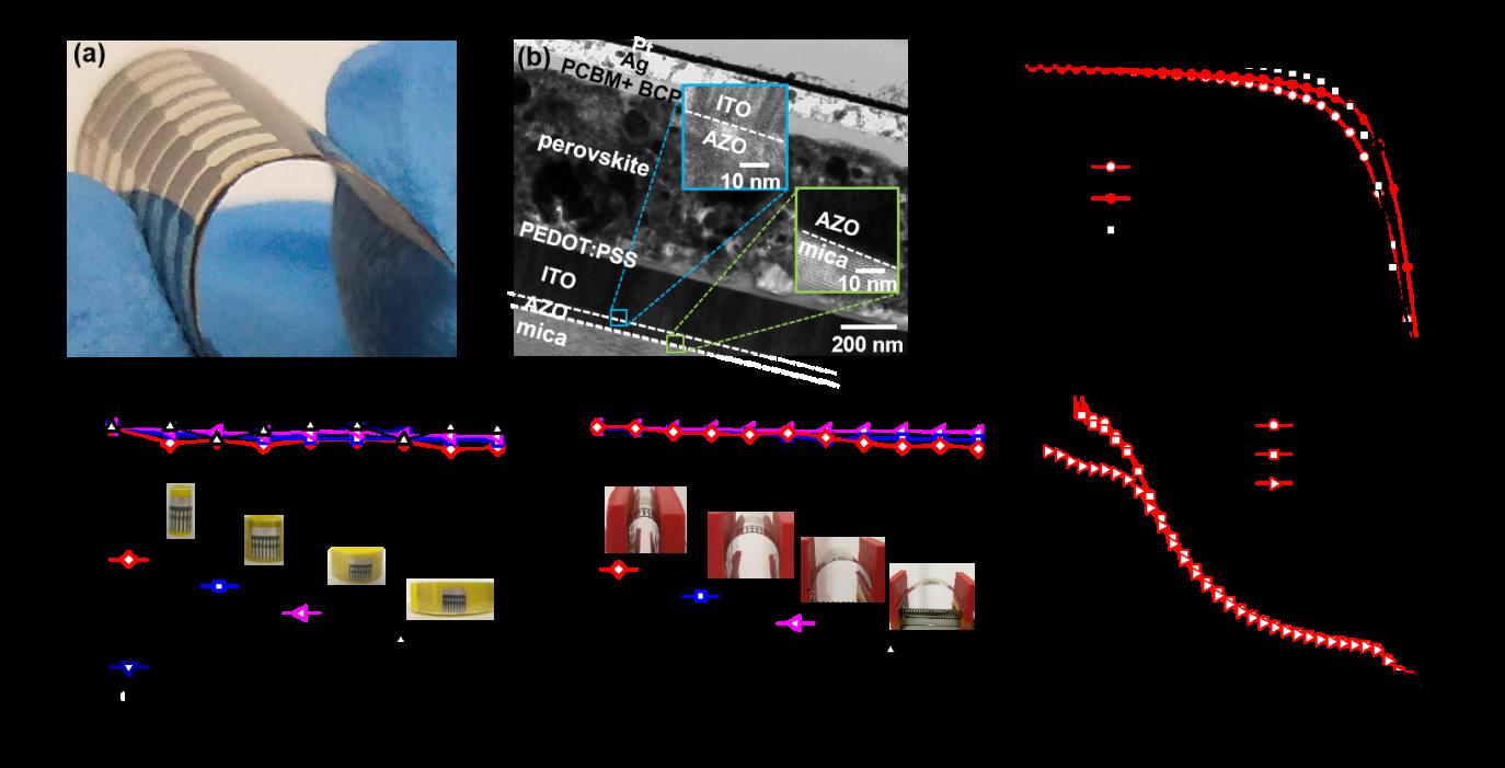 深圳先进院开发出高度柔性、稳定且高效的钙钛矿太阳能电池