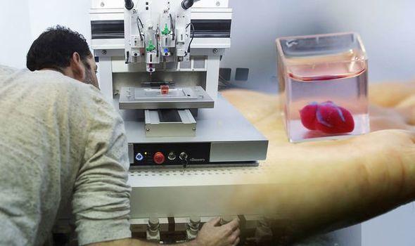 以色列科学家创造第一颗3D打印心脏