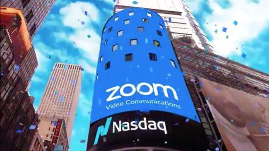 视频会议软件提供商Zoom上市首日股价大涨72%,市值达到159亿美元