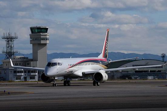 日本三菱支线喷气式飞机(MRJ)认证飞行,新型88座将加入支线飞机市场竞争