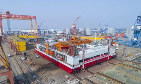 """""""一航津平2""""自升式碎石铺设整平船——即将服役世界级""""超级工程"""""""