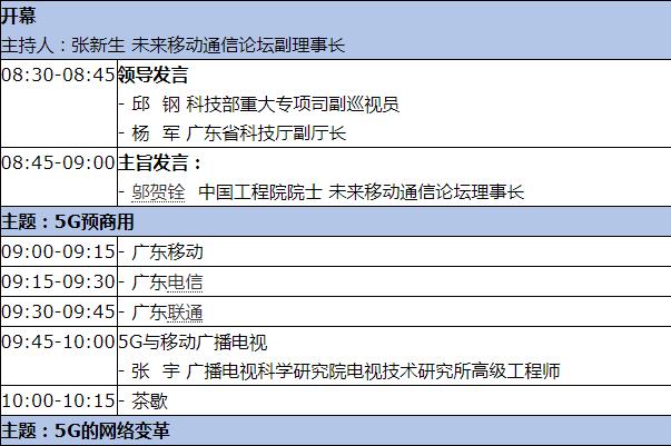 ?2019 5G和未来网络战略研讨会将于5月10日在广州举办
