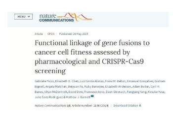 新的基因融合可为脑癌等多种癌症提供新的药物靶点