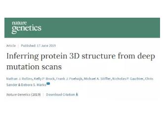 哈佛医学院科学家将通过基因突变来确定蛋白质3D结构