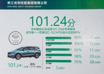 C-ECAP2019年首批车型评价结果公布:吉利嘉际和星越通过白金生态评价