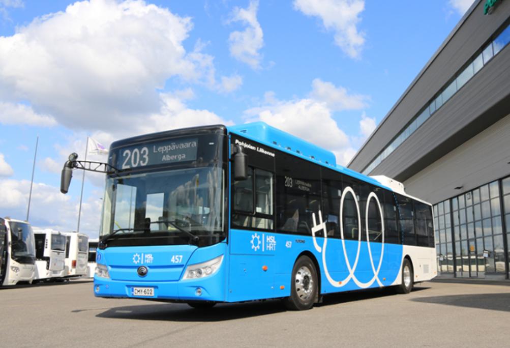 芬兰首批纯电动客车中国造  宇通助力欧洲美好出行