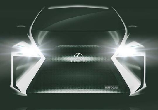 雷克萨斯纯电动概念车预告图曝光 预计在2019东京车展亮相
