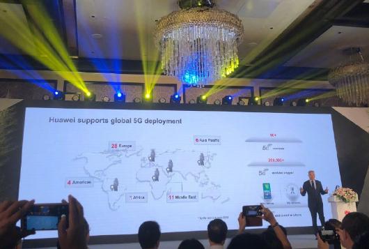 华为全球已签订50多个5G商用合同,已发货20多万个5G基站