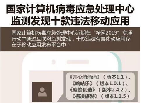 净网2019:10款App有害,涉及隐私窃取、私自下载和赌博
