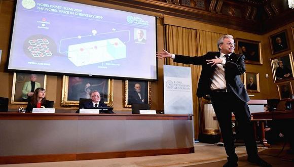2019诺贝尔化学奖获得者:约翰·B·古迪纳夫、M·斯坦利·威廷汉、吉野彰