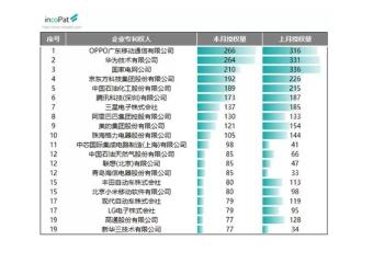 OPPO专利授权量首超华为,位列企业专利权人榜首