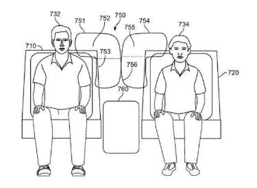 Rivian为安全气囊申请专利,专利指出:可填补汽车座椅之间的空隙