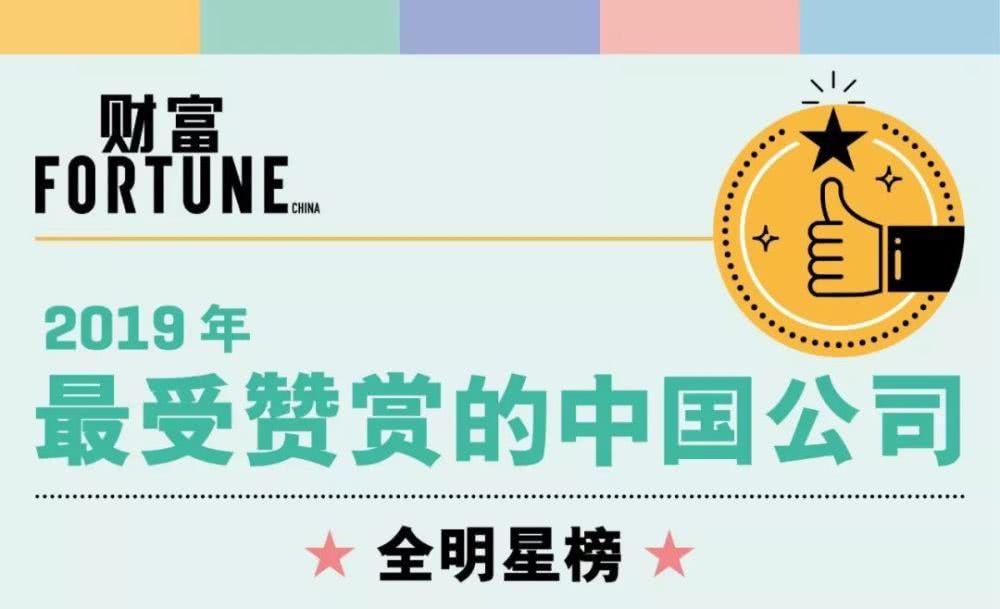 2019年最受赞赏的中国公司排行榜:华为居首,三一重工第二