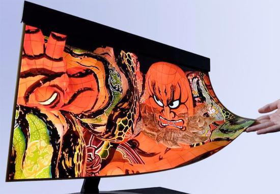 夏普与NHK研发出一款 30 英寸可卷曲 4K @ 60Hz OLED 显示屏